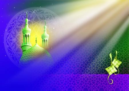 aidilfitri: Eid Mubarak, Ramadan illustration