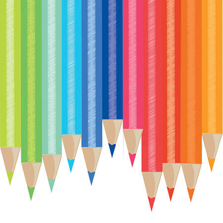 Beautiful pattern background color pencils  photo