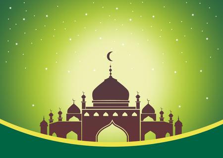 green stars islam blank card 版權商用圖片