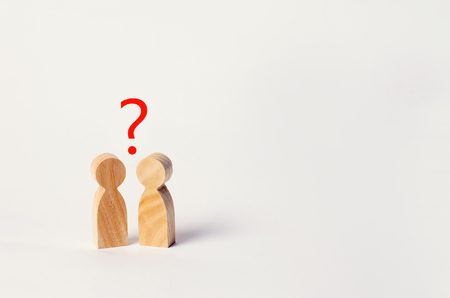 two people are looking for an answer to a question, consultation, discussion, discussion. family psychotherapy, question between people