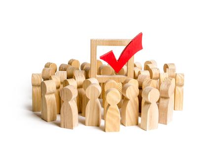 Les gens soutiennent la décision ou la force politique. bon choix de développement. droit de la majorité, société démocratique. Populisme et manipulation de l'électorat. Faire campagne sur les élections,