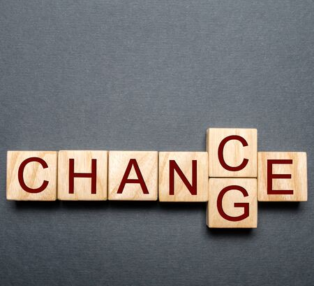 Wooden blocks with the word change to chance. Personal development. concept of motivation, goal achievement, potential. incentive, overcoming
