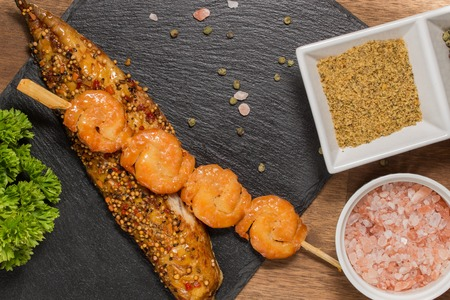 lenteja: Smoked Salmon Steak with Lentil