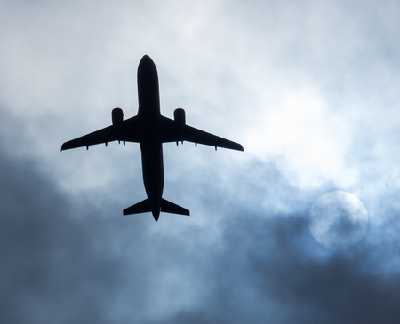 Aircraft silhouette directly above