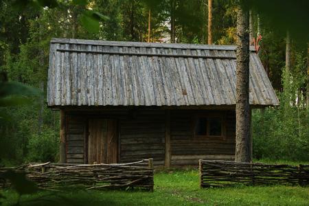 hunters hut landscape view Editorial