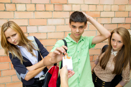Young people are skeptical to cigarettes photo