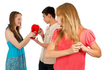 treason: Girl sees the guy treason Stock Photo