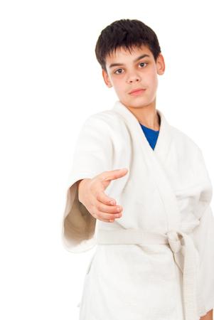 receptions: welcome in class taekwondo Stock Photo