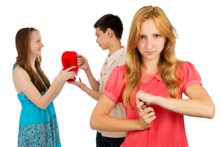 envy: Girl is angry with envy