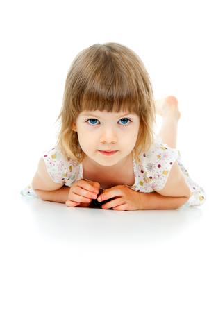portrait of a beautiful child girl