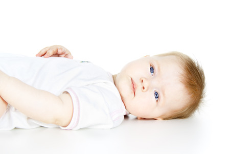 portrait of a beautiful baby isolated on white background