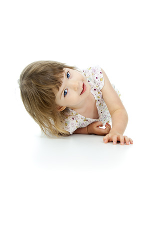 beautiful little girl lying Stok Fotoğraf