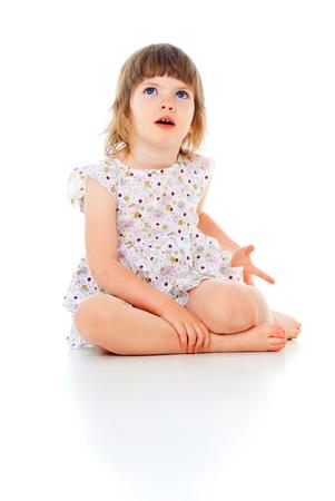 beautiful little child girl Stok Fotoğraf