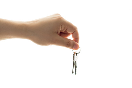 Woman hand with a key