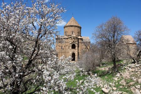 Akdamar island and the Armenian church Stock Photo