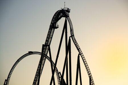 Segment of a roller coaster Фото со стока