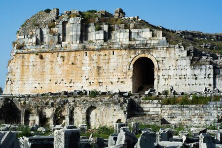 Hellenistic theatre in Miletus Stock Photo