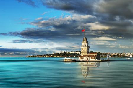 maiden's tower in Istanbul Standard-Bild