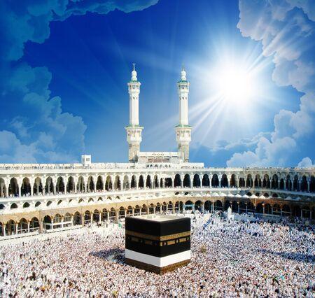 3D-Tapetendesign mit Kabah in Mekka für Wandbilder