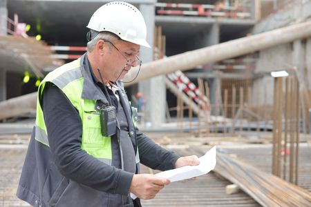 Senior Foreman At Construction Site
