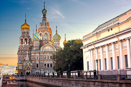 Church Of Savior On Spilled Blood St. Petersburg, Russia 版權商用圖片 - 44629028