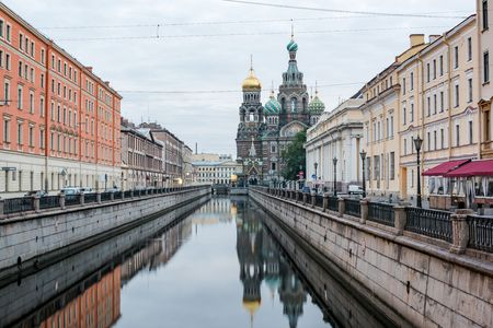 st  petersburg: Church Of Savior On Spilled Bloodt, St. Petersburg, Russia Stock Photo
