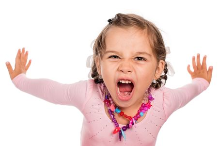 Angry Little Girl Screaming