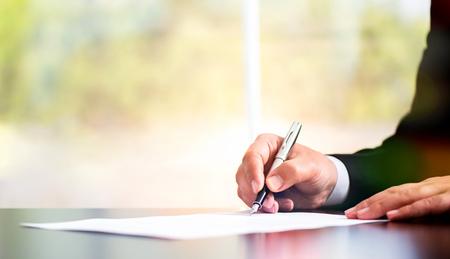 사업가 공식 문서 서명 스톡 콘텐츠