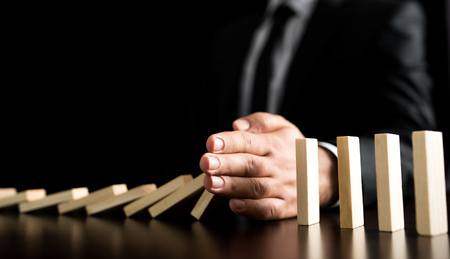 Chain Reaction In Business Concept Stock Photo