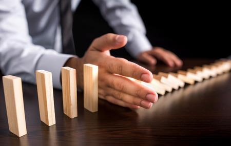 Chain Reaction In Business Concept Foto de archivo