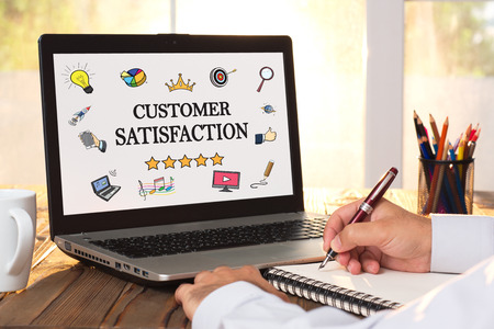 Concept For Customer Satisfaction On Virtual Screen