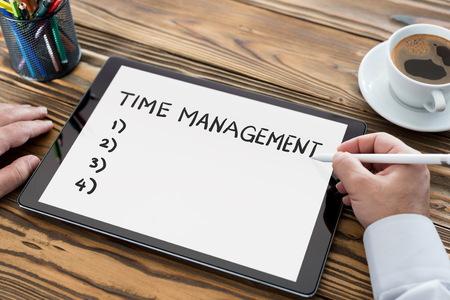 Time Management Concept on Digital Tablet