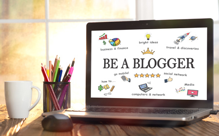 Concept For Working As A blogger In Home Office