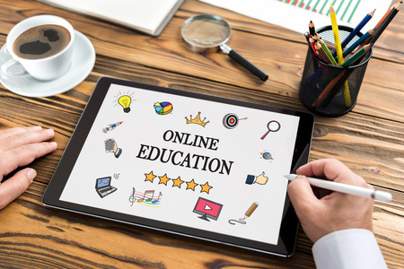 Online Education Concept On Digital Tablet Screen