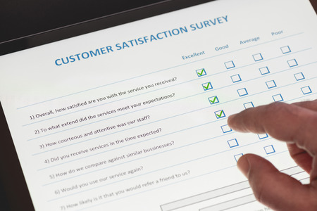 Online Customer Satisfaction Survey on Digital Tablet in Office
