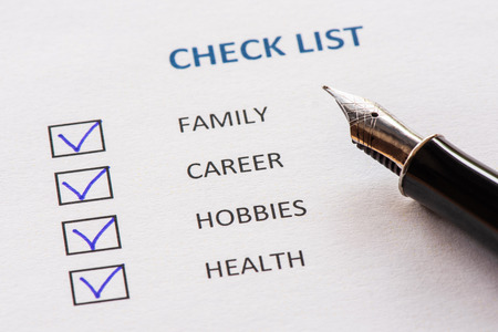Check List For Priorities in Life
