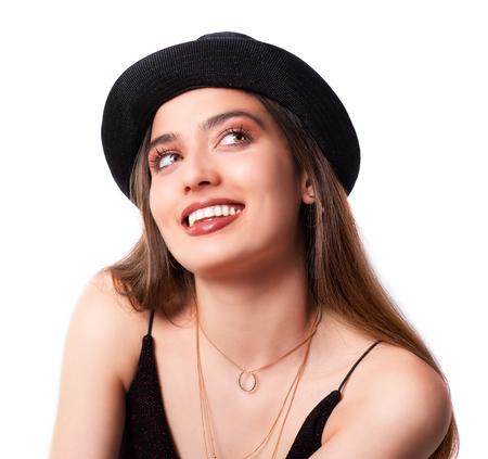 Studio Shot Portrait Of Beautiful, Charming Young Woman