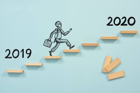 Business Risk And Challenge Concept For New Year 2020