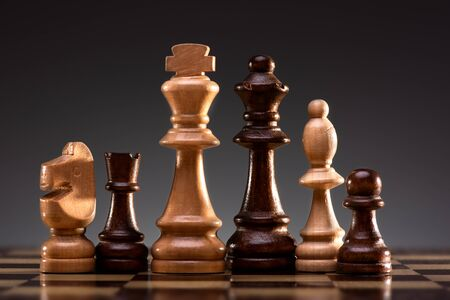 Business Concept for Leadership, Challenge and Diversity with Chess Pieces Stok Fotoğraf - 131305999