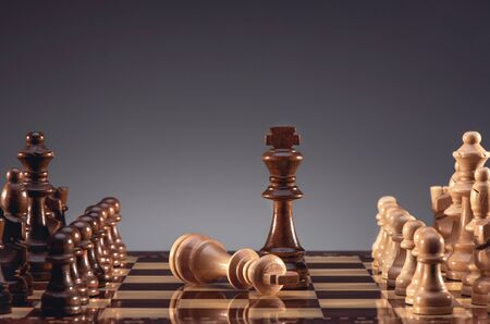 Business Concept for Leadership, Challenge and Diversity with Chess Pieces