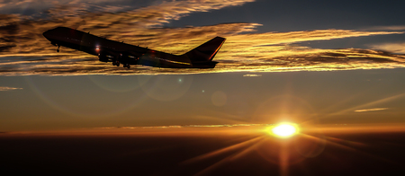 2016 Sunset reizen vliegtuig