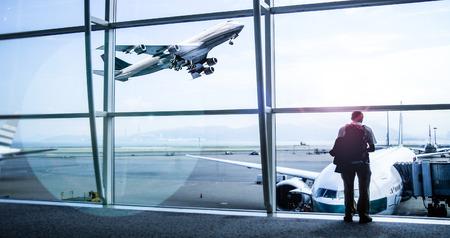 luchthaven van vertrek gebied Stockfoto