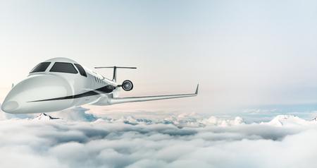 jets vliegen over de wolken