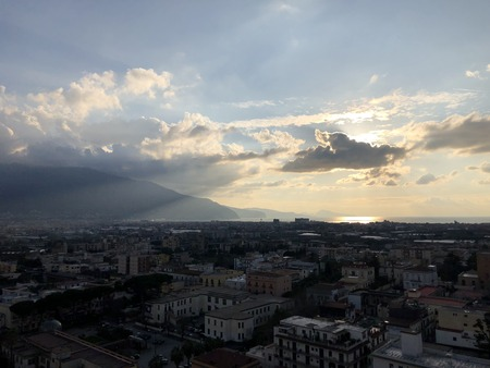 Campanile di Pompei, Santuario della Beata Vergine del Rosario View of the Vesuvius