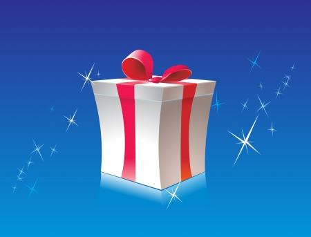 donative: gift box on blue