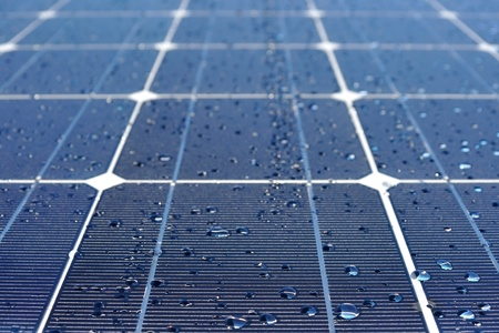 Solar panel with drops of water Stock Photo - 10200017
