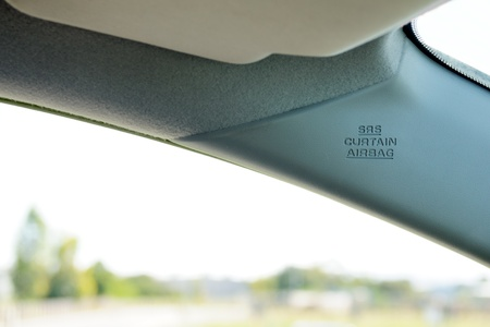 Curtain air bag on front window of the passenger car, Supplemental Restraint System (SRS) Stock Photo - 11266866