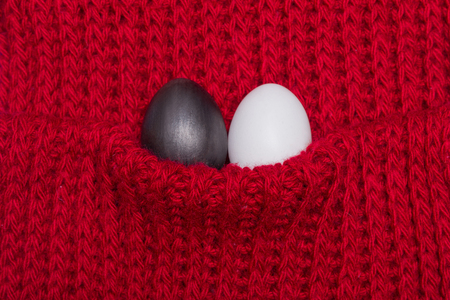 Two different eggs