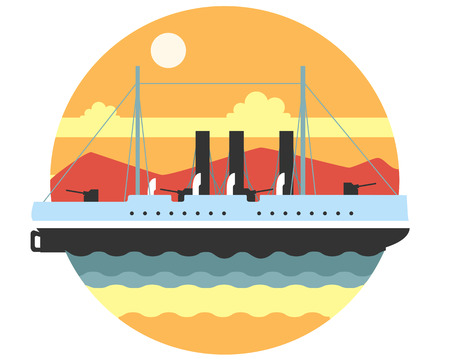 legendary: Legendary cruiser Aurora is in the body of water at anchor