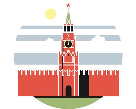 홈 Sightseeings 오래 된 모스크바 크렘린 빨간색 벽돌 건물 낮에